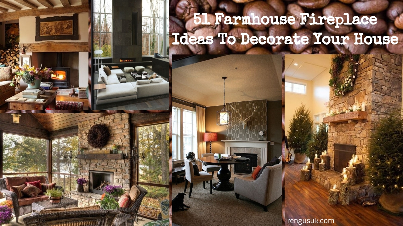 51 Farmhouse Fireplace Ideas To Decorate Your House ...
