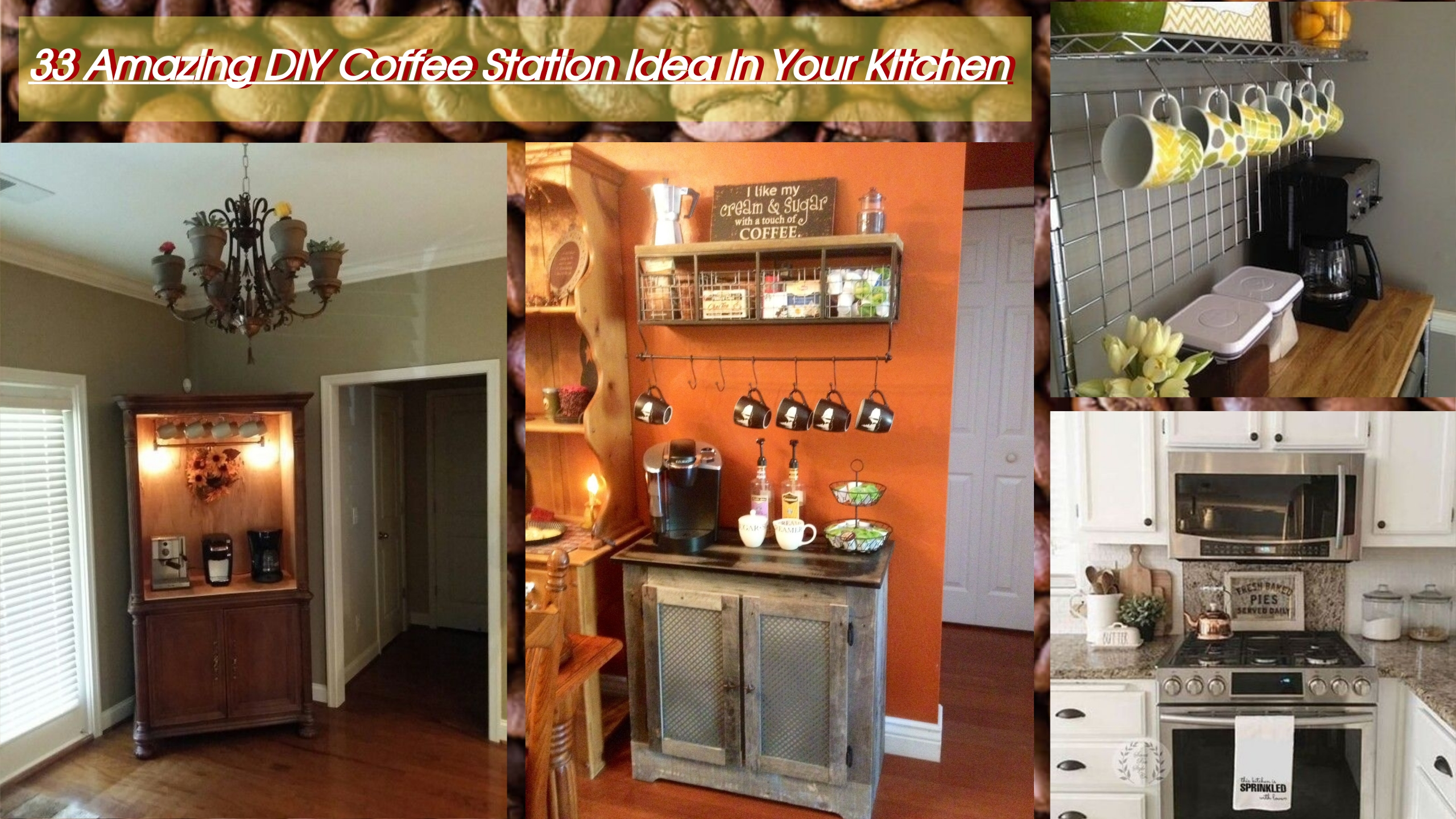 33 Amazing Diy Coffee Station Idea In Your Kitchen