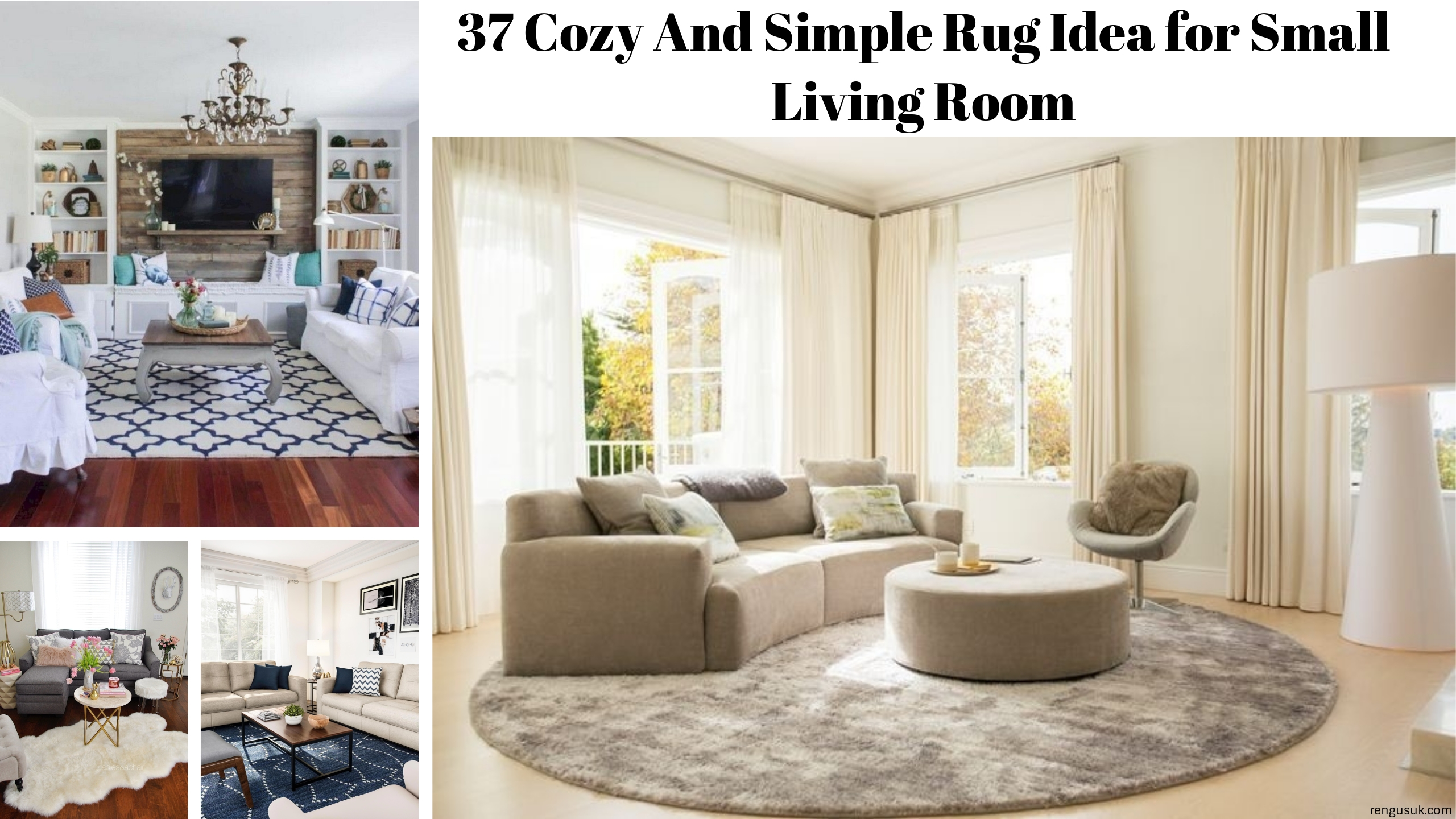 37 Cozy And Simple Rug Idea For Small Living Room Rengusuk Com