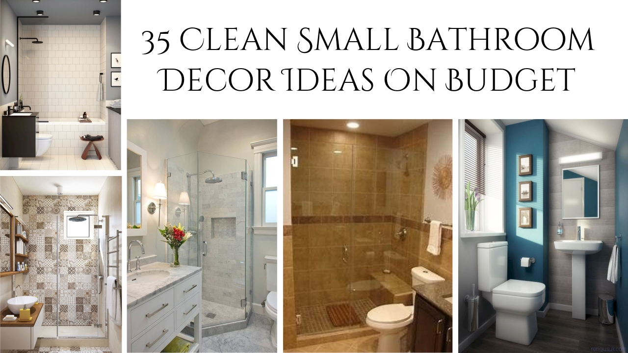 35 Clean Small Bathroom Decor Ideas On Budget Rengusuk